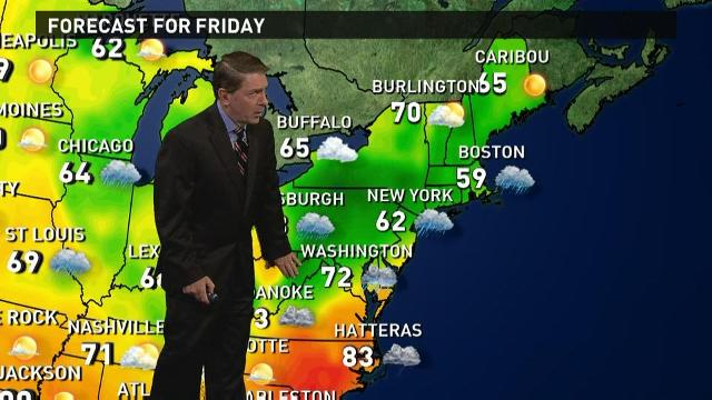 Friday's forecast: Still wet in East, flooding lessens
