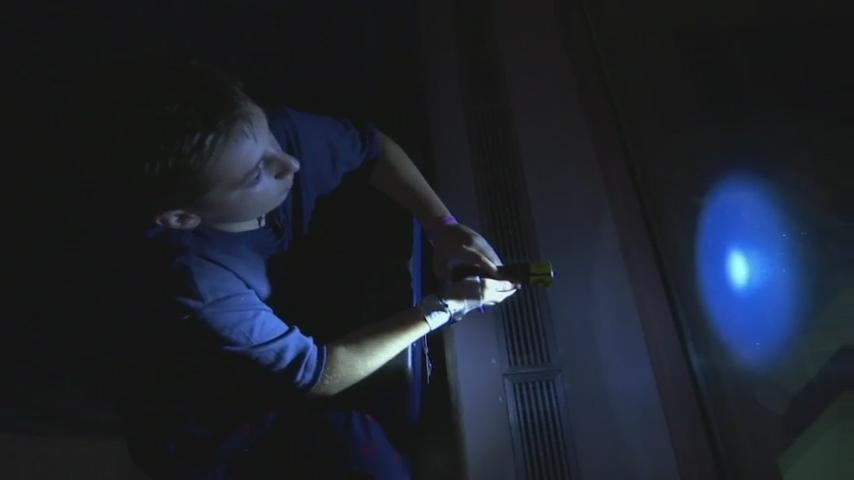 For one sparkling minute each night, the city of Providence, Rhode Island, sends a blinking goodnight message to sick kids. Young patients at Hasbro Children's Hospital use flashlights to return the greeting. (Sept. 30)