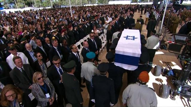 World leaders pay respects at funeral for Shimon Peres