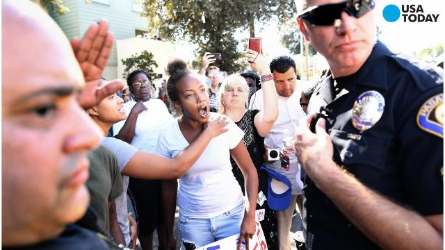 Pasadena crowds protest the death of a man Tasered by police