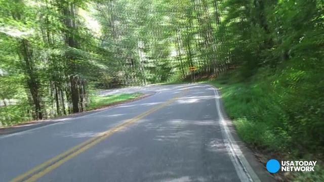 11-mile stretch of highway has 318 curves