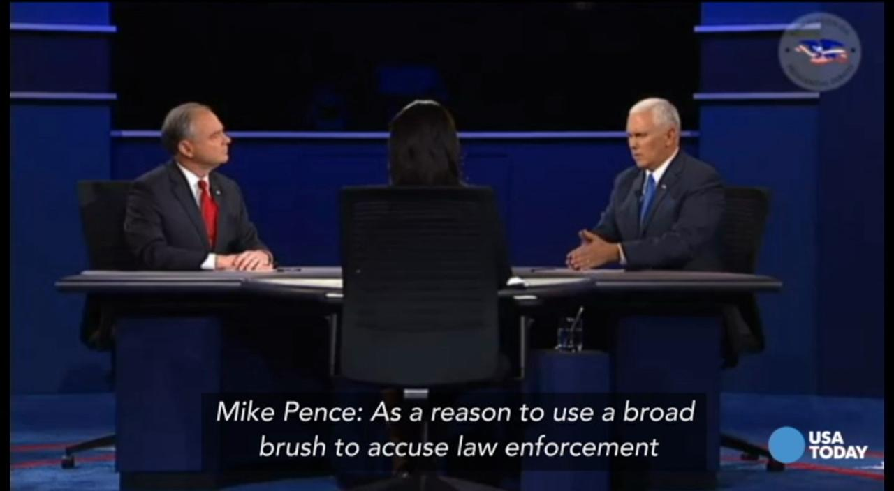 Mike Pence criticizes using 'broad brush' on law enforcement