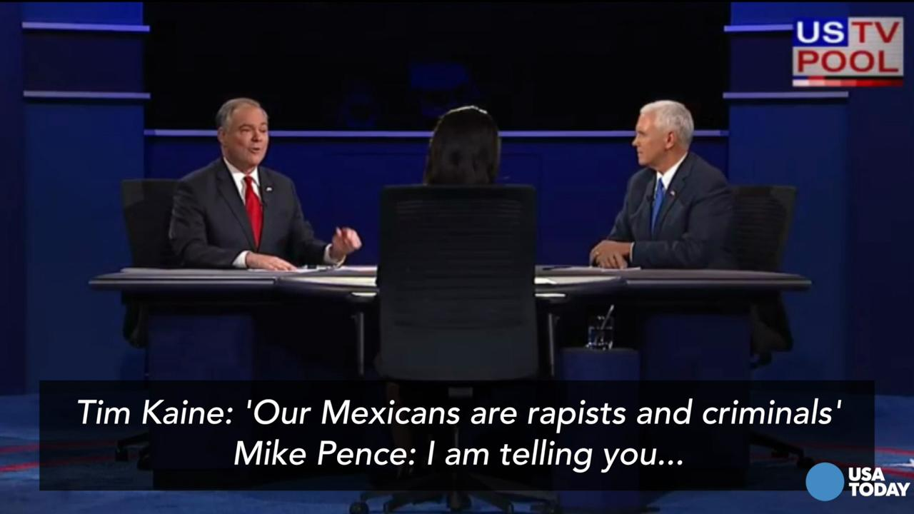 Pence: 'You whipped out that Mexican thing again'