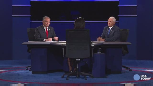 Kaine and Pence debate their views on abortion