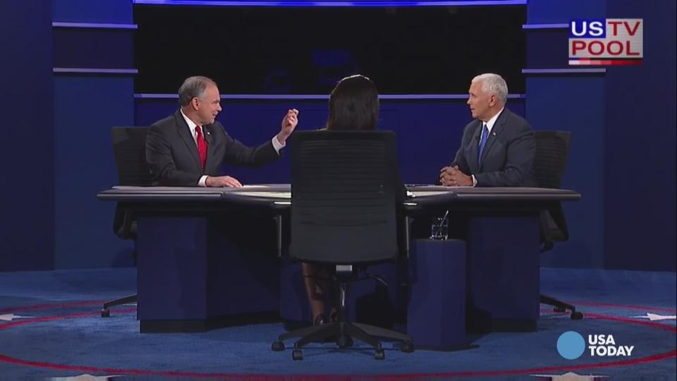 Mike Pence and Tim Kaine interrupted each other...a lot