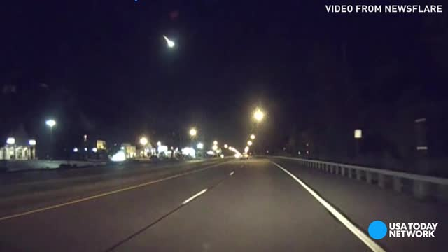Watch a meteor flash through the sky