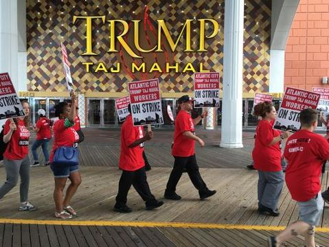 The Trump Taj Mahal, an iconic casino hotel on the Atlantic City boardwalk, ceased operations Monday after hemorrhaging losses for years.