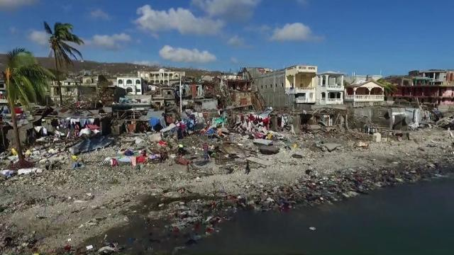 Drone Shows Devastation After Hurricane Smashes Through Haiti