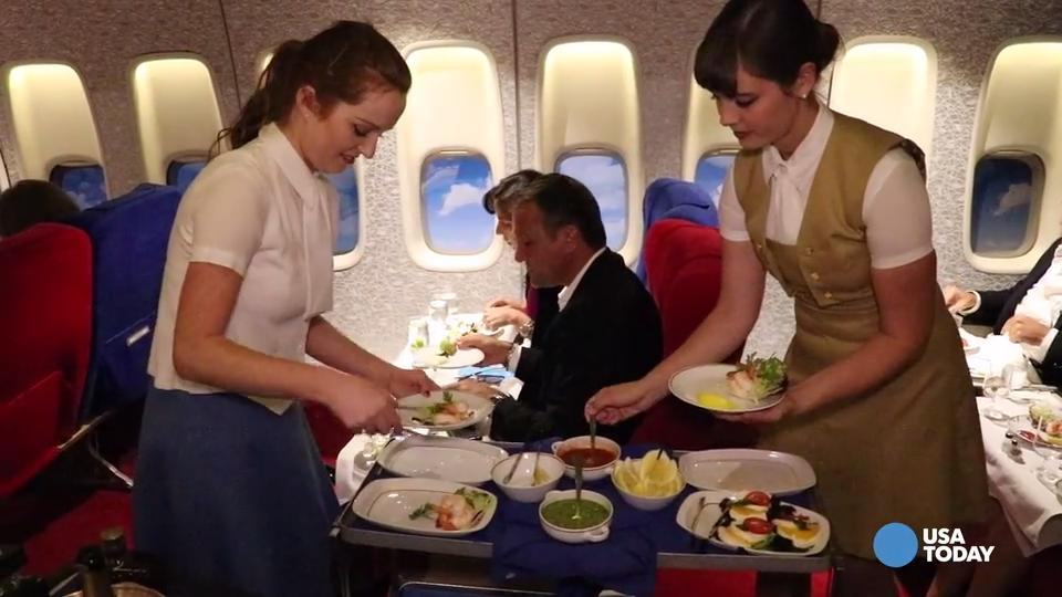 Vintage 747 sets the scene for a memorable meal