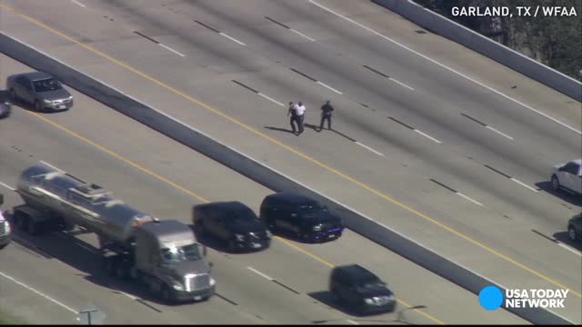 Man nearly run over on highway while fleeing police