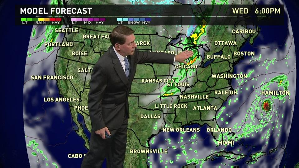 Wednesday 39 S Forecast Showers In Midwest Pacific Nw