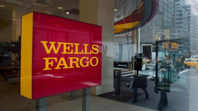 File photo taken in 2016 shows a Wells Fargo sign