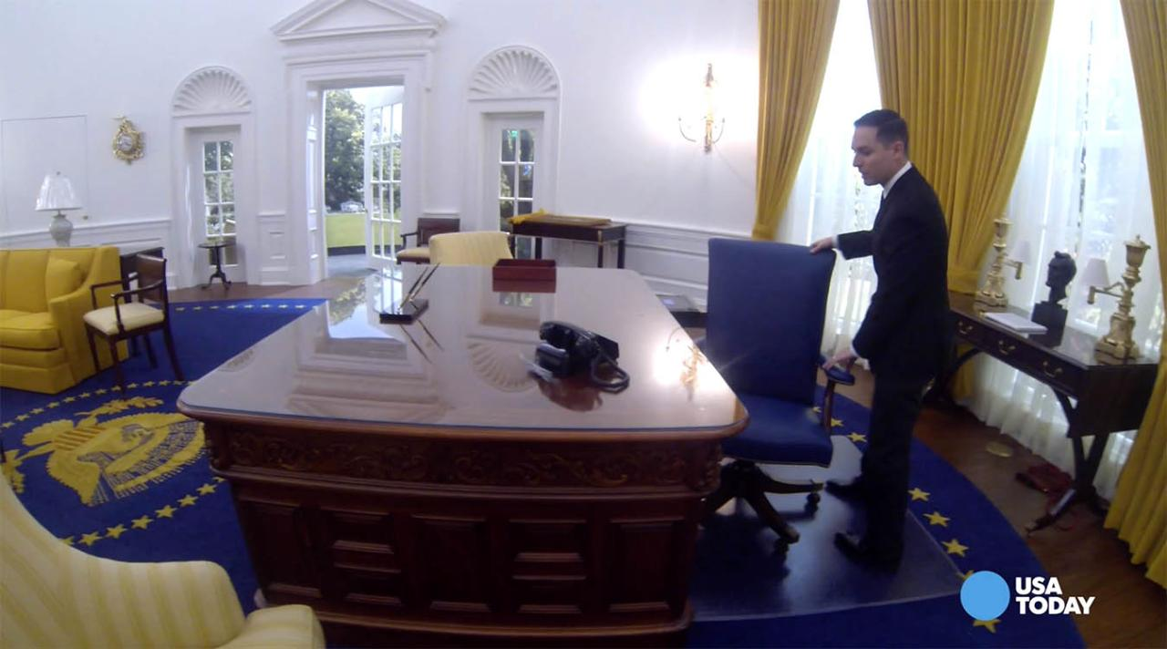 The newly renovated Richard Nixon Presidential Library and Museum features a replica of the Oval Office and visitors can even sit behind the President's desk.