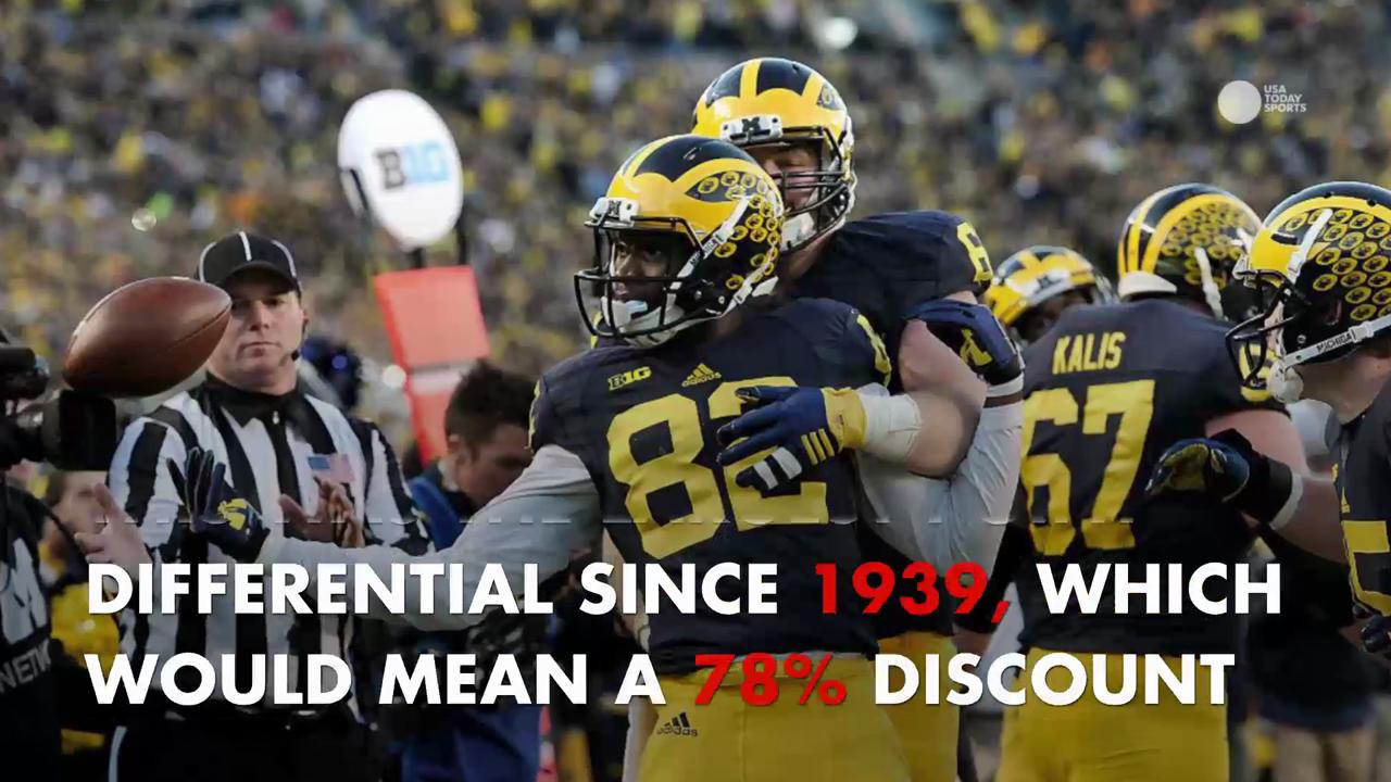 The fun promotion for the Michigan game might cost Ruth's Chris Steak House more than they were expecting.