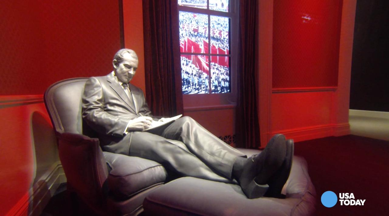 The Richard Nixon Presidential Library and Museum has reopened to the public after a $15 million makeover.