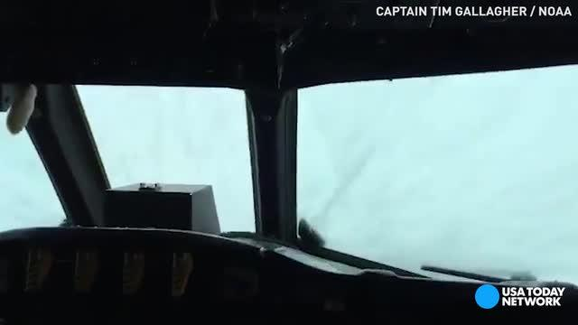 NOAA Hurricane Hunters fly into the eye of Matthew