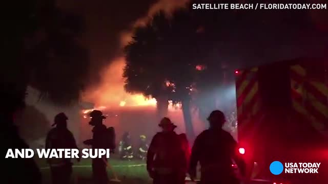 Downed power lines spark house fire in Florida