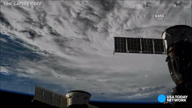 Looming view of Hurricane Matthew from space