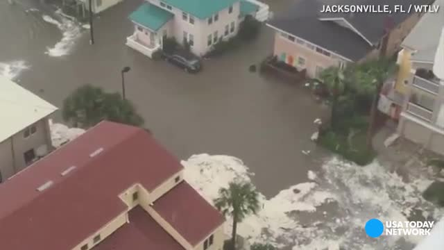 Intense flooding in Jacksonville Beach