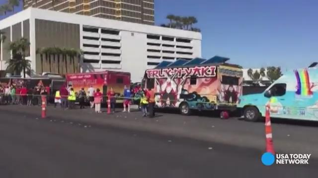 Food trucks create their own anti-Trump wall in Vegas