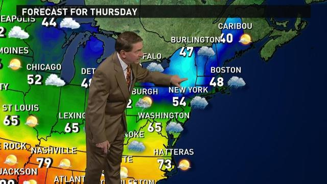 Thursday's forecast: Wet on both coasts