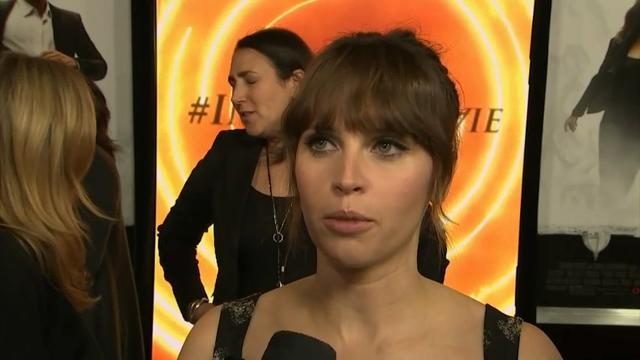 """Actress Felicity Jones discusses her year of action roles, working on thriller """"Inferno"""" and sci-fi spin-off, """"Rogue One: A Star Wars Story."""" (Oct. 26)"""