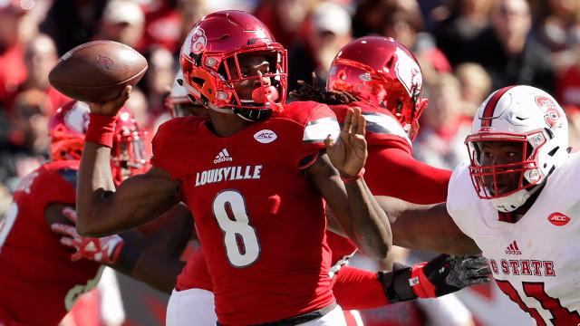 Lamar Jackson sets another record as Louisville dominates