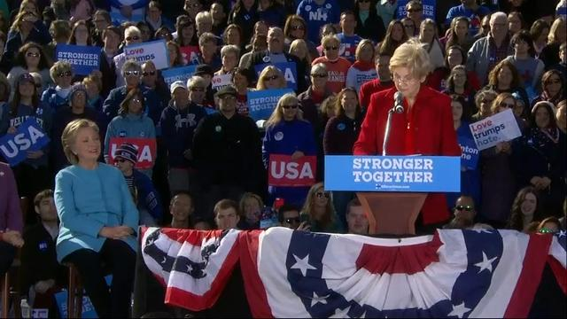 Clinton, Warren Join Forces to Denounce Trump