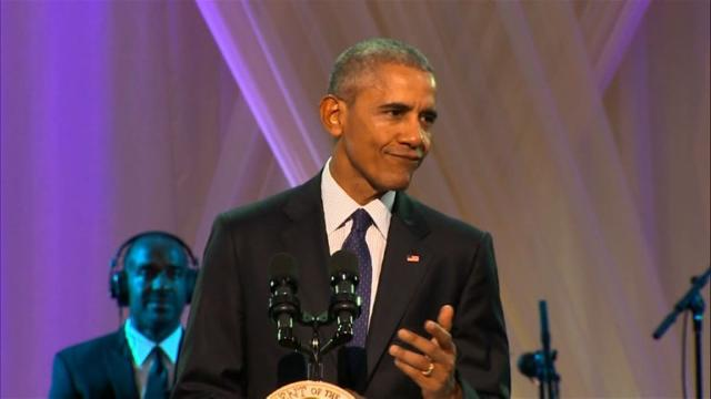 Obama hosts final BET music show at White House