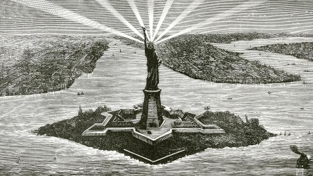 The monument was dedicated on Oct. 28, 1886, after a long and tortured journey from an idea to execution