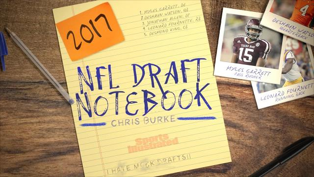 SI.com's Chris Burke gives you a glimpse into his scouting notebook to share who is rising up his draft board, breakdown the strength of a position, and give a college match-up to watch.
