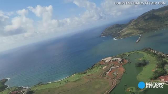 Check out Hawaii's Garden Island from the air!