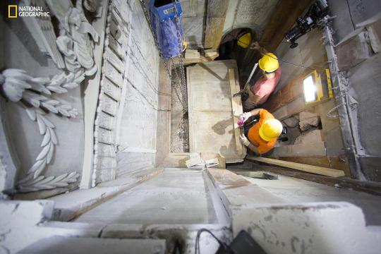 'Burial slab' of Jesus found in Jerusalem church