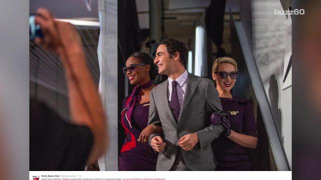 Delta Airlines unveiled new uniforms designed by Project Runway judge, Zac Posen.
