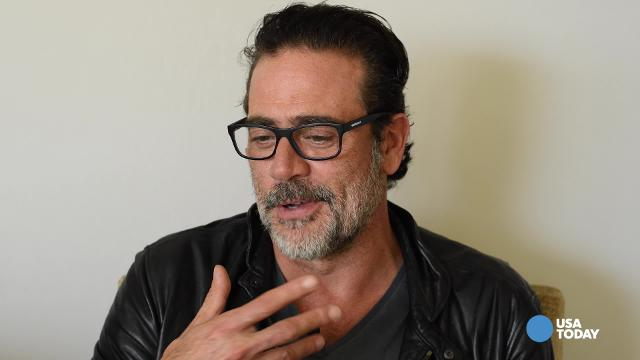 """Jeffrey Dean Morgan, who plays the violent character """"Negan"""" on """"The Walking Dead"""" tells USA TODAY's Bill Keveney that a plan to carry puppies and bunnies at the season 7 premiere didn't happen because of the weather."""