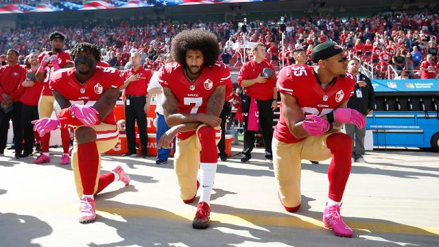 A new poll conducted by Seton Hall found that 56% of fans believe NFL television ratings are down due to players protesting the national anthem.