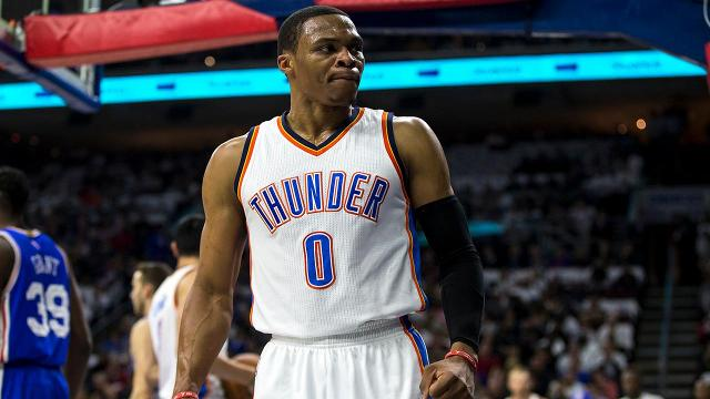 76ers fan who flipped off Russell Westbrook apologizes