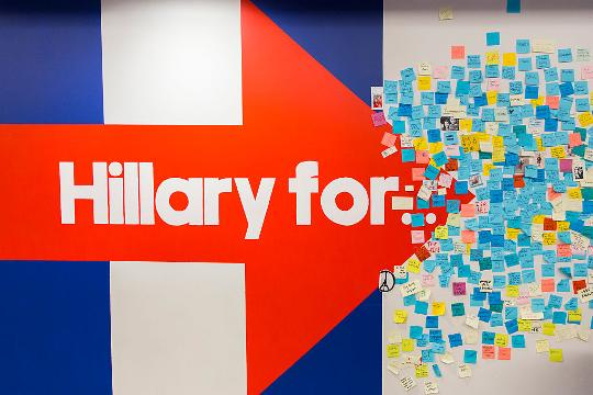 Clinton NYC HQ cleared after powder found in envelope