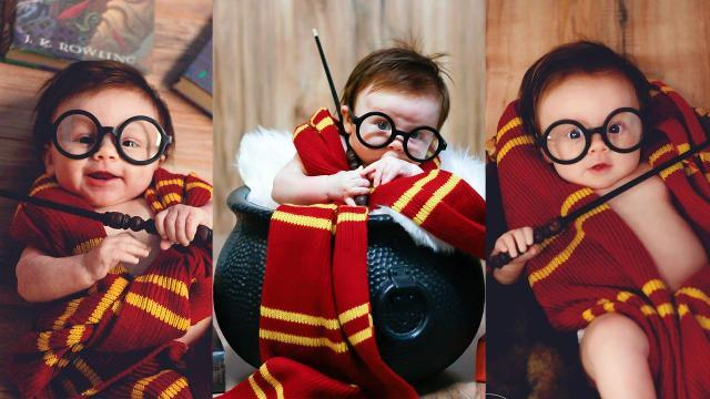 Baby poses as Harry Potter, has magical photo shoot