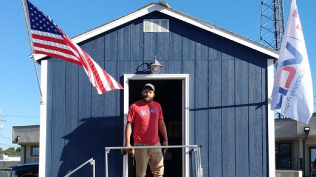 A nonprofit is building tiny houses for veterans in Kansas City, Missouri.