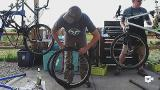 These volunteers help the homeless by repairing their bikes