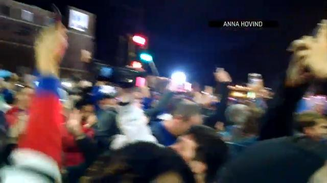 Cubs Fans Celebrate 1st World Series in 71 Years