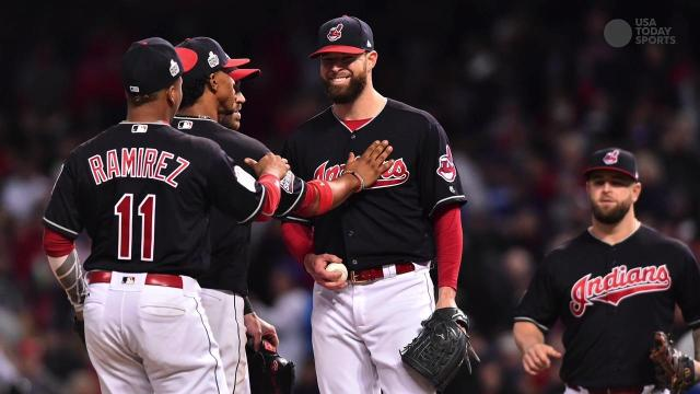 Indians shut down Cubs in Game 1