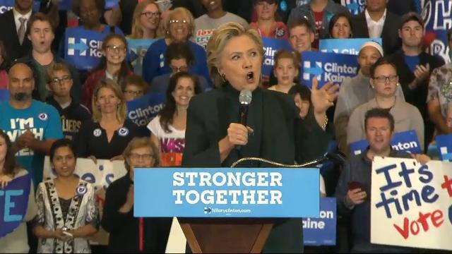 "Democratic presidential nominee Hillary Clinton is asking undecided voters in the battleground state of Ohio to think ""seriously about what you really want to see."" Clinton is reaching out to voters who may be considering Donald Trump. (Oct. 21)"