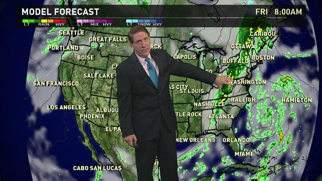 Thursday's forecast: Showers from Great Lakes to New England