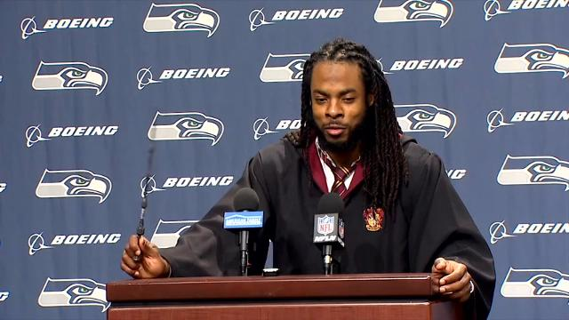 Seahawks Richard Sherman in Harry Potter Costume