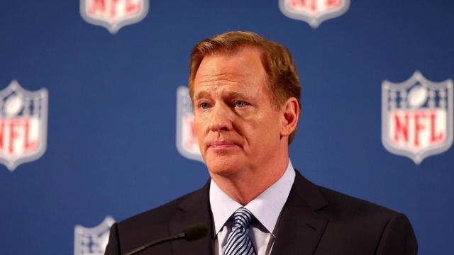 """NFL Commissioner Roger Goodell says that the league has made """"tremendous progress"""" in terms of dealing with incidents that fall under the NFL's Personal Conduct Policy."""