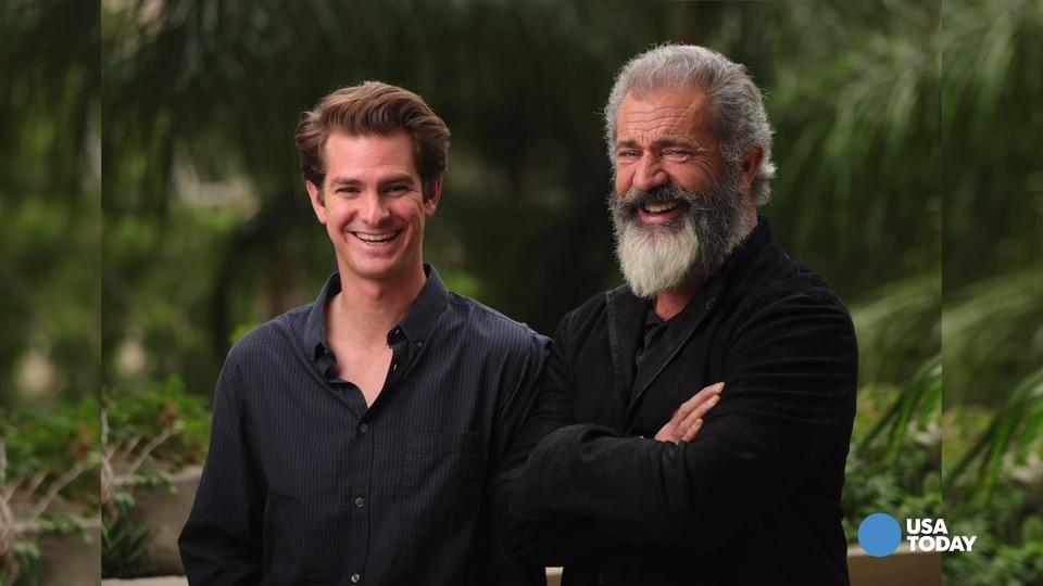 Mel Gibson on Andrew Garfield reminisce on rats and maggots