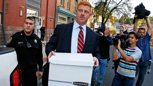 A jury awarded former Penn State assistant coach Mike McQueary, $7.3 million in damages on Thursday, finding that the university defamed him after it became public that his testimony helped prosecutors charge Jerry Sandusky.