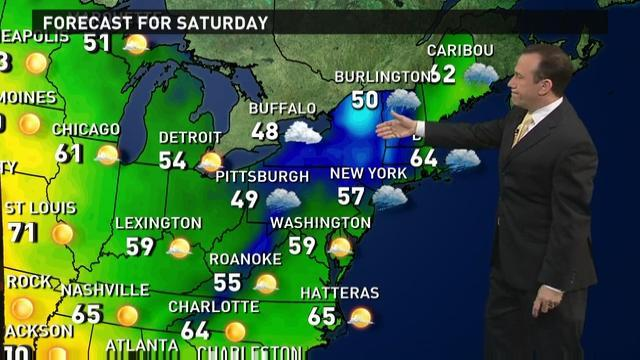 Saturday's forecast: Big storm to slam the Northeast